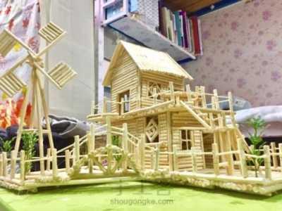 怎么弄房子图片步骤 筷子手工制作房子图片步骤