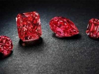 粉钻破拍卖纪录 Rio Tinto展出65颗罕见粉钻红钻