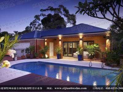 农村屋顶游泳池设计图 别墅建造私人游泳池设计和造价