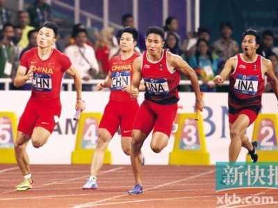 亚运会4x100 中国男女队均卫冕失利