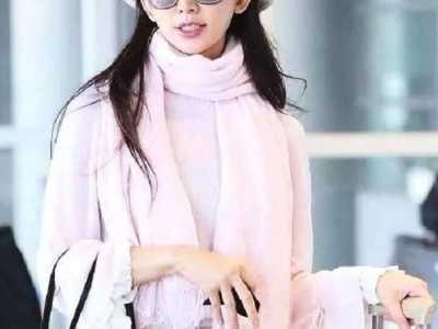林志玲色 粉色上衣搭配同色围巾