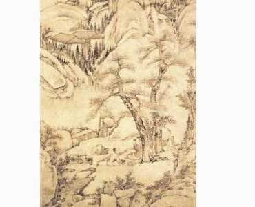 中国画树木 古代树木中国画图片