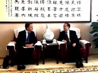 中国科学院副院长张涛 张涛会见法国农业科学研究院院长