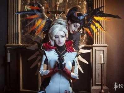 美女与恶魔 美女COS《守望先锋》天使与恶魔