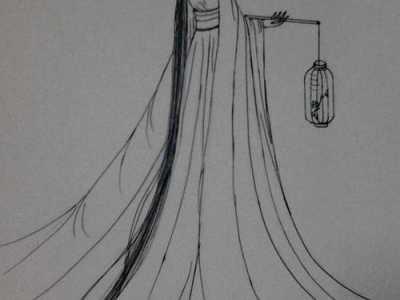 手绘男女背影图片唯美 铅笔女生背影图片唯美