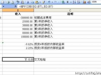 excel计算内部收益率 Excel财务应用13――内部收益率