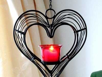 情人节浪漫蜡烛布置图 2015情人节用蜡烛装饰
